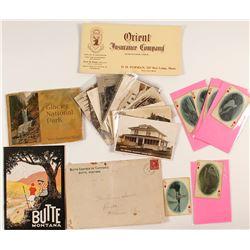 Montana Ephemera (Booklet, Postcards, Playing Cards, Blotter)