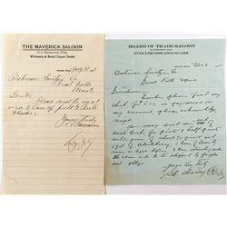 Two Montana Saloon Letters (Harlem & Joplin)