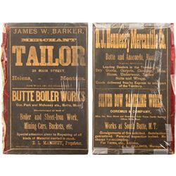 Montana Territory Advertising Ledger Cover