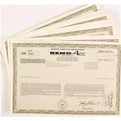 Reno Air Stock Certificates (100)