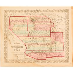 Colton's Map of Territories of New Mexico and Utah