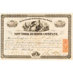 New York Rubber Company Stock Certificate, 1867