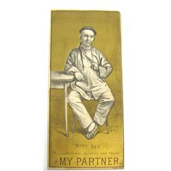 """Advertisement Card for Play """"My Partner"""" featuring Wing Lee, Union Square Theater, New York"""