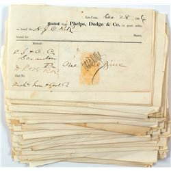 Phelps Dodge 1866 Revenue Imprinted Document Collection I