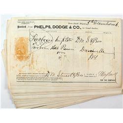 Phelps Dodge 1866 Revenue Imprinted Document Collection II