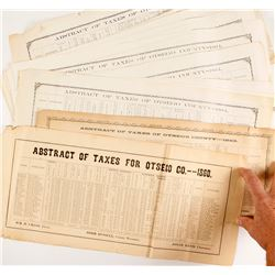 Civil War Era Abstract of Taxes for Otsego County