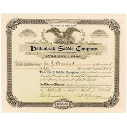 Hollenbeck Bicycle Saddle Company Stock Certificate, 1898
