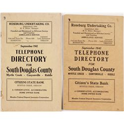 1941 and 1942 Telephone Directories for South Douglas County, Oregon