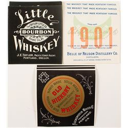 Collection of Old Whiskey Labels (Two for Portland, Oregon)