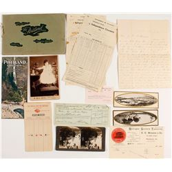 Oregon Ephemera (Brochures, Cabinet Card, Railroad)