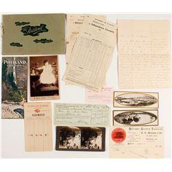 Oregon Ephemera (Brochures, Cabinet Card, Railroad)