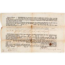 1854 Cass County, Texas Court Document