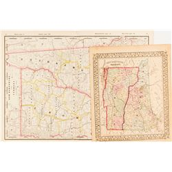 Maps of New Hampshire & Vermont