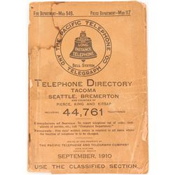 1910 Tacoma/Seattle Washington Telephone Book