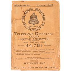 1910 Tacoma/Seattle Washington Telephone Book