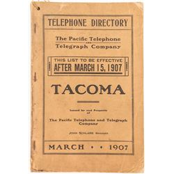Tacoma, Washington Telephone Directory 1907