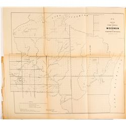 1855 Sketch of the Public Surveys in Wisconsin and Territory of Minnesota