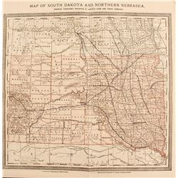 19th Century Rand McNally Map of South Dakota & Northern Nebraska