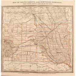 19th Century Rand McNally Map of South Dakota & Northern Nebraska