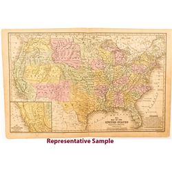 Two 1850s United States Maps by Mitchell