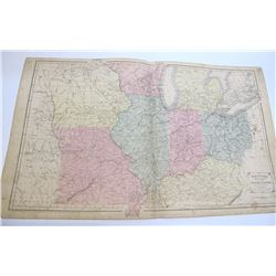 c.1856 Western Division of US Map by Appleton
