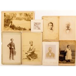 Black American Cabinet Cards and CDV's