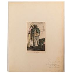Early Black American Hand-Colored Lithograph