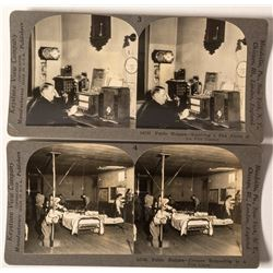 Two Fire Department Stereoviews