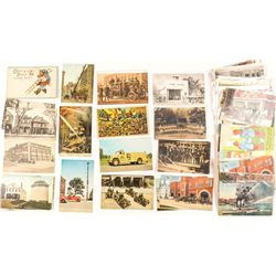 Fire Fighting Postcard Collection