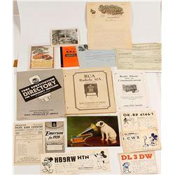 Phonograph & Radio Ephemera