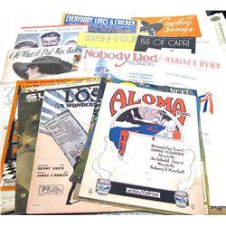 22 Vintage Sheet Music Pieces