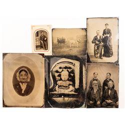6 Tintypes including Half Plates