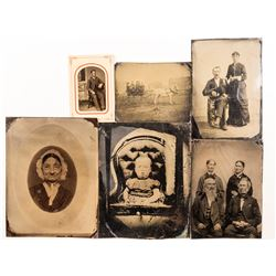 6 Tintypes including Half Plates