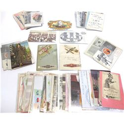 Collection of Tobacco and Cigar Postcards and Trade Cards
