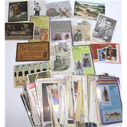 Large Assortment of Tobacco and Smoking Postcards and Ephemera