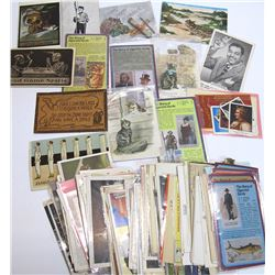Large Assortment of Tobacco and Smoking Postcards and Ephemera