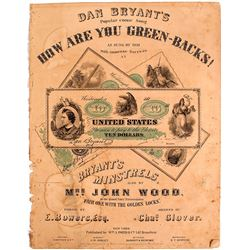 Dan Bryant's, How Are You Green-Backs Sheet Music