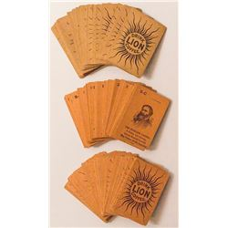 Lion Coffee Advertising Card Decks