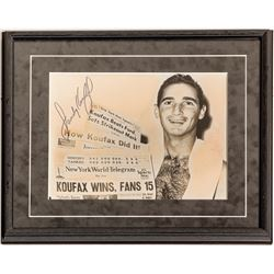 Sandy Koufax Photo Poster