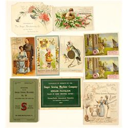 Singer Sewing Company Ephemera (Exposition Booklets, Trade Cards)