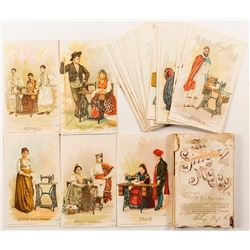 Singer Sewing Co. Trade Cards in Original Holder