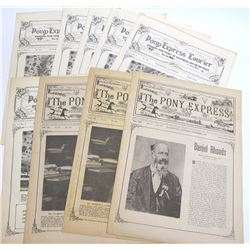 9 Issues of The Pony Express Pamphlet