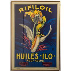 Vintage Rifiloil Oil Poster