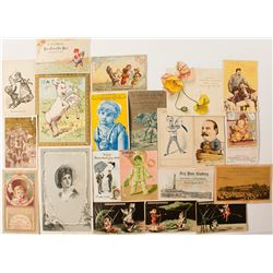 Clothing Trade Cards Collection
