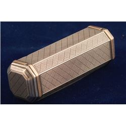 Sterling Silver Octagonal Cigarette Case