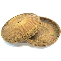 Antique Chinese Wicker and Bamboo Basket