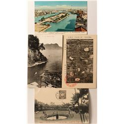 Four Japanese/Chinese Postcards