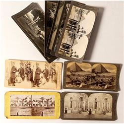 Eleven Early Egypt Stereoviews (Pyramids, Tombs, Etc.)