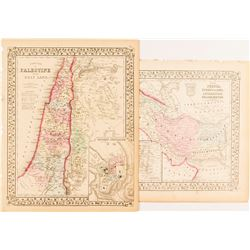 Map of Palestine; Persia/Turkey in Asia