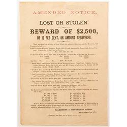 Unusual Notice of Stolen Bonds